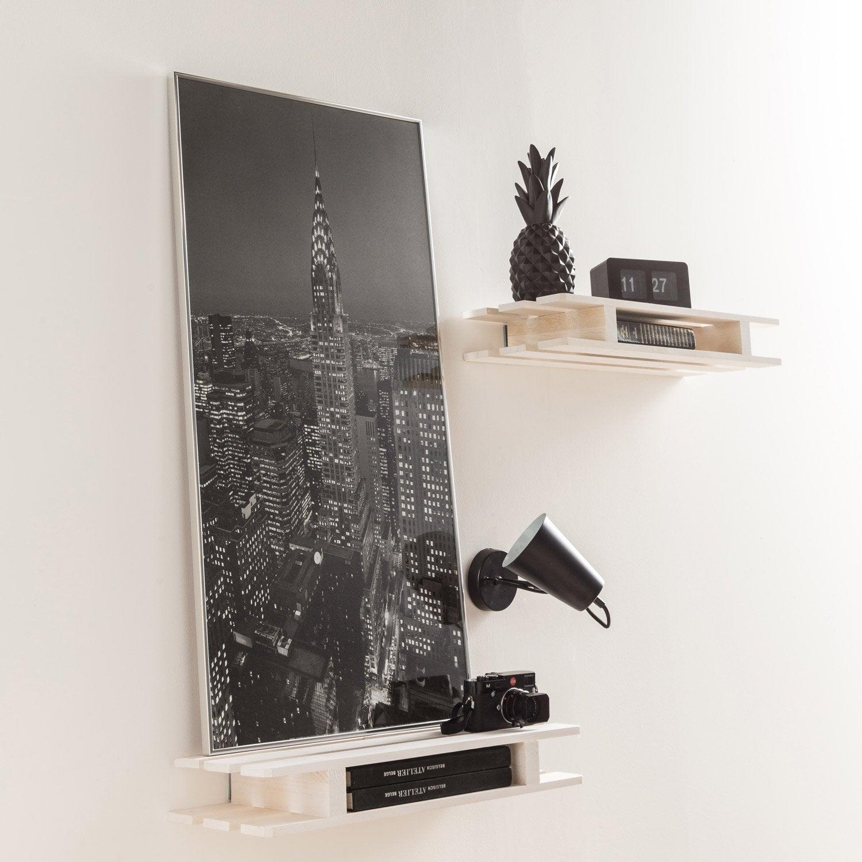 cadre accent 60 x 80 cm argent leroy merlin. Black Bedroom Furniture Sets. Home Design Ideas