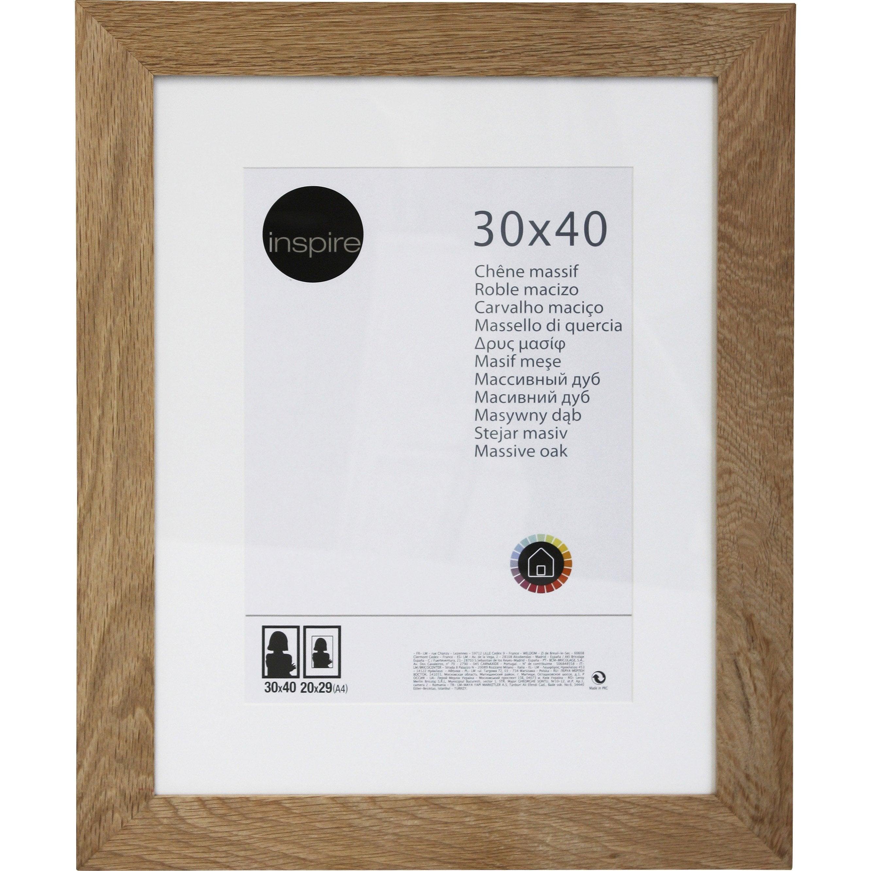 Cadre Nakato, l.30 x H.40 cm, chêne clair