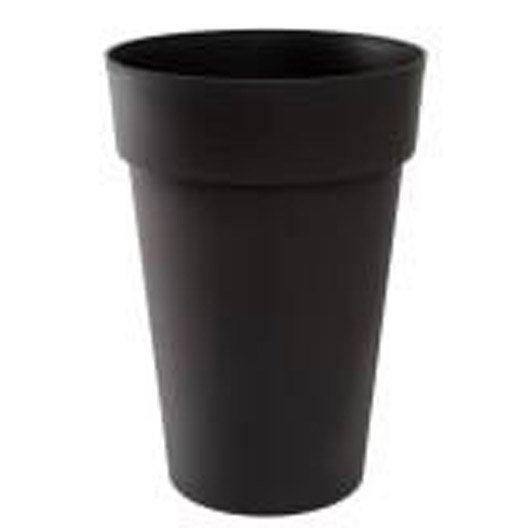 Pot polypropyl ne eda x cm gris anthracite for Pot pour plante interieur pas cher