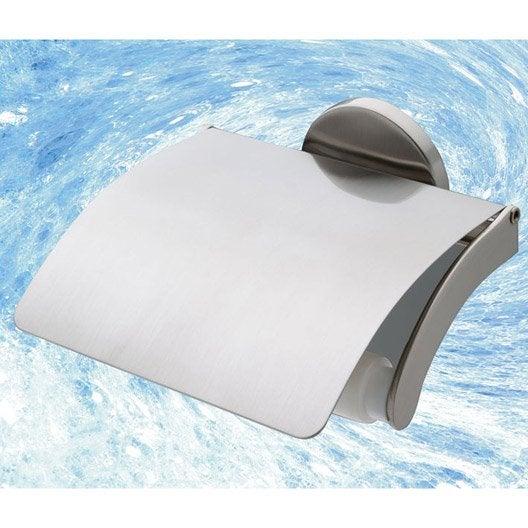 d rouleur de papier toilette avec couvercle nizza chrom leroy merlin. Black Bedroom Furniture Sets. Home Design Ideas
