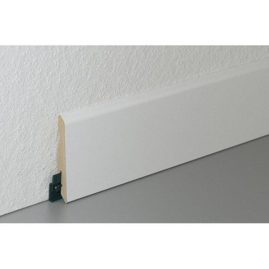 plinthe parquet et sol stratifi d cor blanc cm x x mm leroy merlin. Black Bedroom Furniture Sets. Home Design Ideas