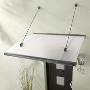 Auvent en kit Rubin, structure en aluminium, 150 x 25 x 95 cm