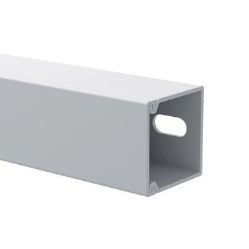 Cache-câble blanc pour moulure, H.1.5 x P.1.5 cm