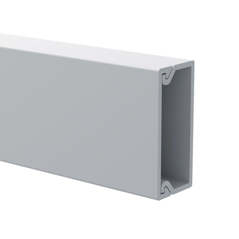 Cache C Ble Blanc Pour Moulure H 1 X P 2 2 Cm Leroy Merlin # Comment Cacher Les Cables Tv