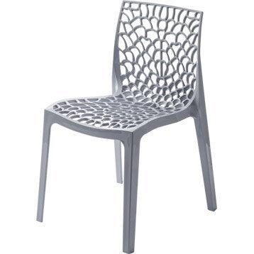 Chaise et fauteuil de jardin salon de jardin table et - Chaise jardin resine ...