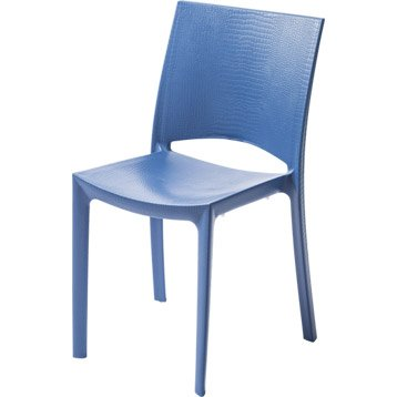 Chaise de jardin en résine Cocco bleu