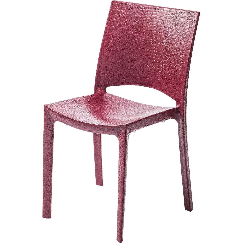 Chaise de jardin en résine Cocco rouge | Leroy Merlin
