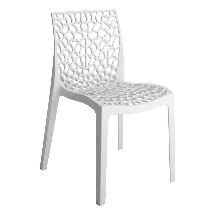 Chaise de jardin en polypropylène Grafik blanc