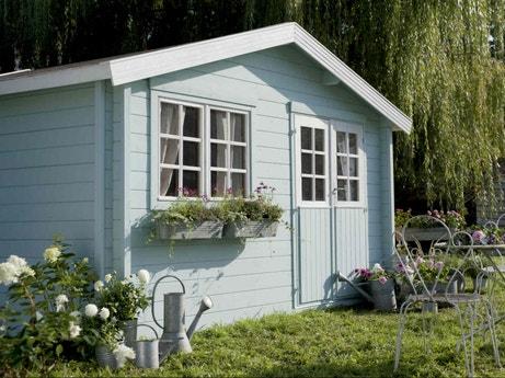 Abri de jardin abri de jardin en bois cabane chalet - Comment monter des tuiles sur un toit ...