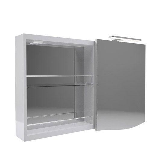 Armoire de toilette armoire avec clairage int gr for Interrupteur porte coulissante