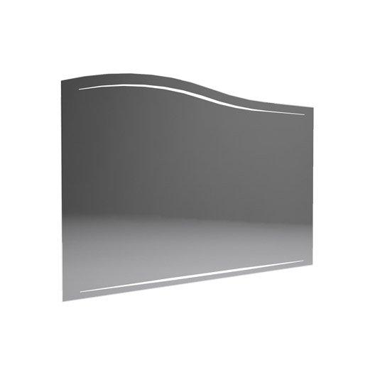 miroir avec clairage int gr l 100 cm decotec el gance leroy merlin. Black Bedroom Furniture Sets. Home Design Ideas