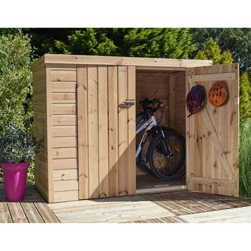Rangement ext rieur coffre de jardin armoire leroy merlin - Cabine de plage en bois pour jardin ...