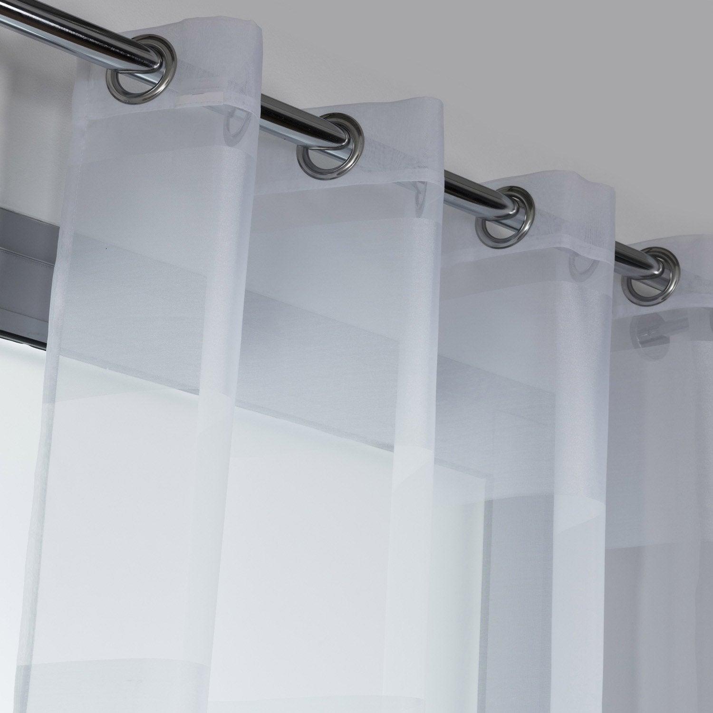 voilage tamisant grande hauteur adeline blanc x cm leroy merlin. Black Bedroom Furniture Sets. Home Design Ideas