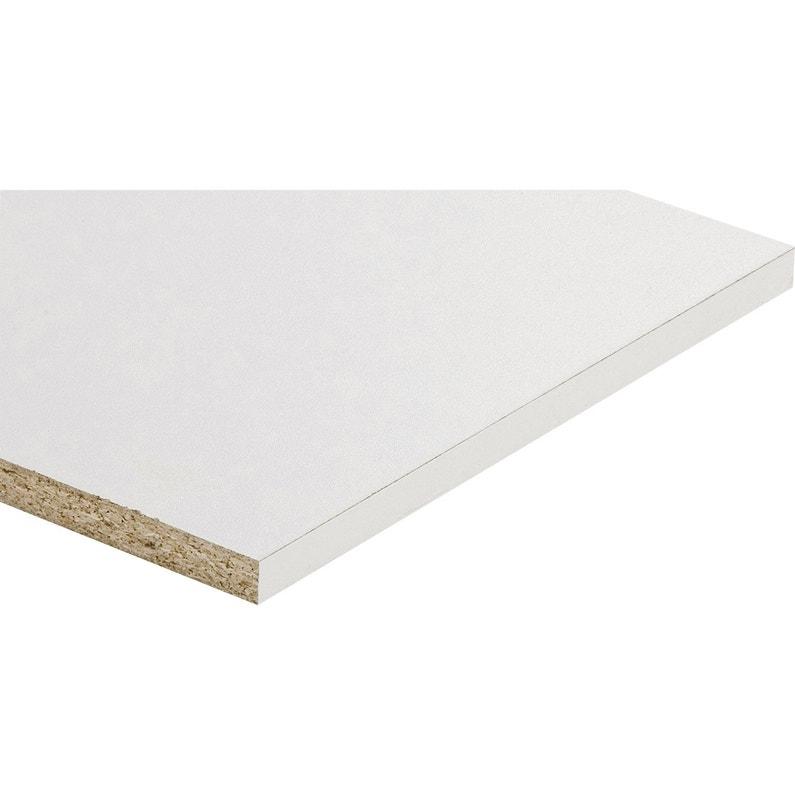 Tablette Agglomérée Blanc L 200 X L 30 Cm X Ep 16 Mm
