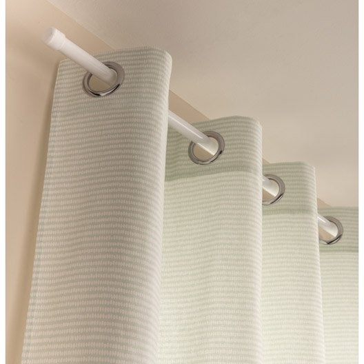 rideau tamisant puntos vert pastel blanc x cm leroy merlin. Black Bedroom Furniture Sets. Home Design Ideas