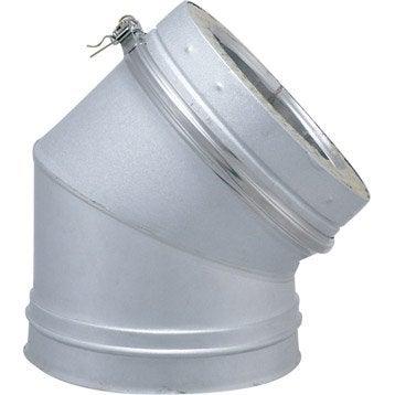 Coude pour conduit double paroi ISOTIP JONCOUXDiam.180 mm 45° Ep.30 mm