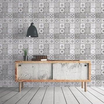 Papier peint tapisserie papier peint intiss et vinyle au meilleur prix leroy merlin - Tapisserie imitation carreaux de ciment ...