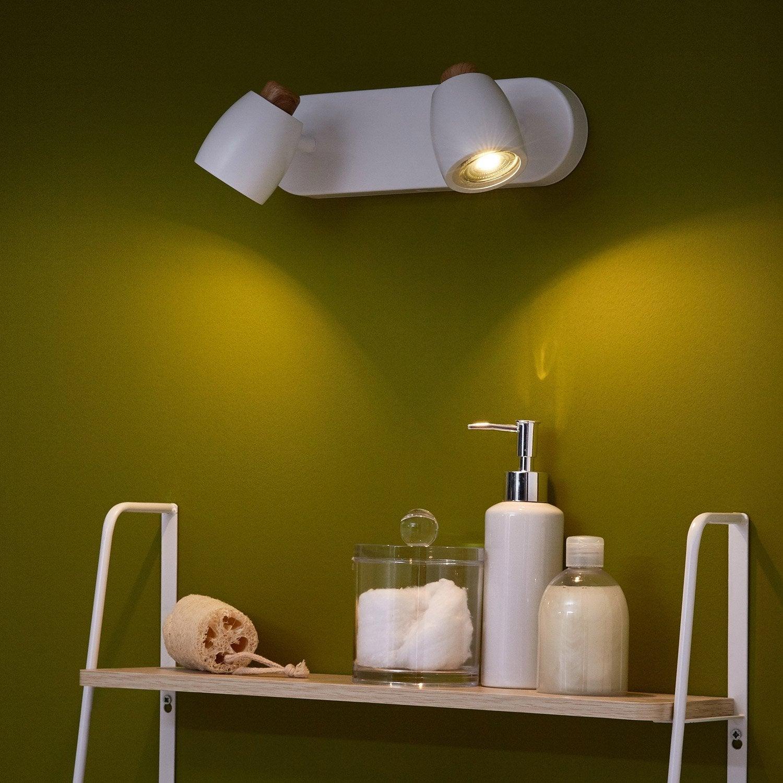 Comment Disposer Des Spots Dans Un Salon rampe 2 spots, fer blanc, inspire nordic