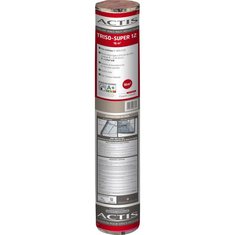 Rouleau Films Thermo Réflecteurs Triso Super 12 Actis 10 X16 M Ep35 Mm