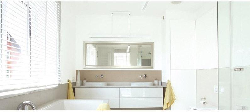 Peinture, blanc, plafond Cuisine et bain pro tech DULUX VALENTINE, satin  2.5 l