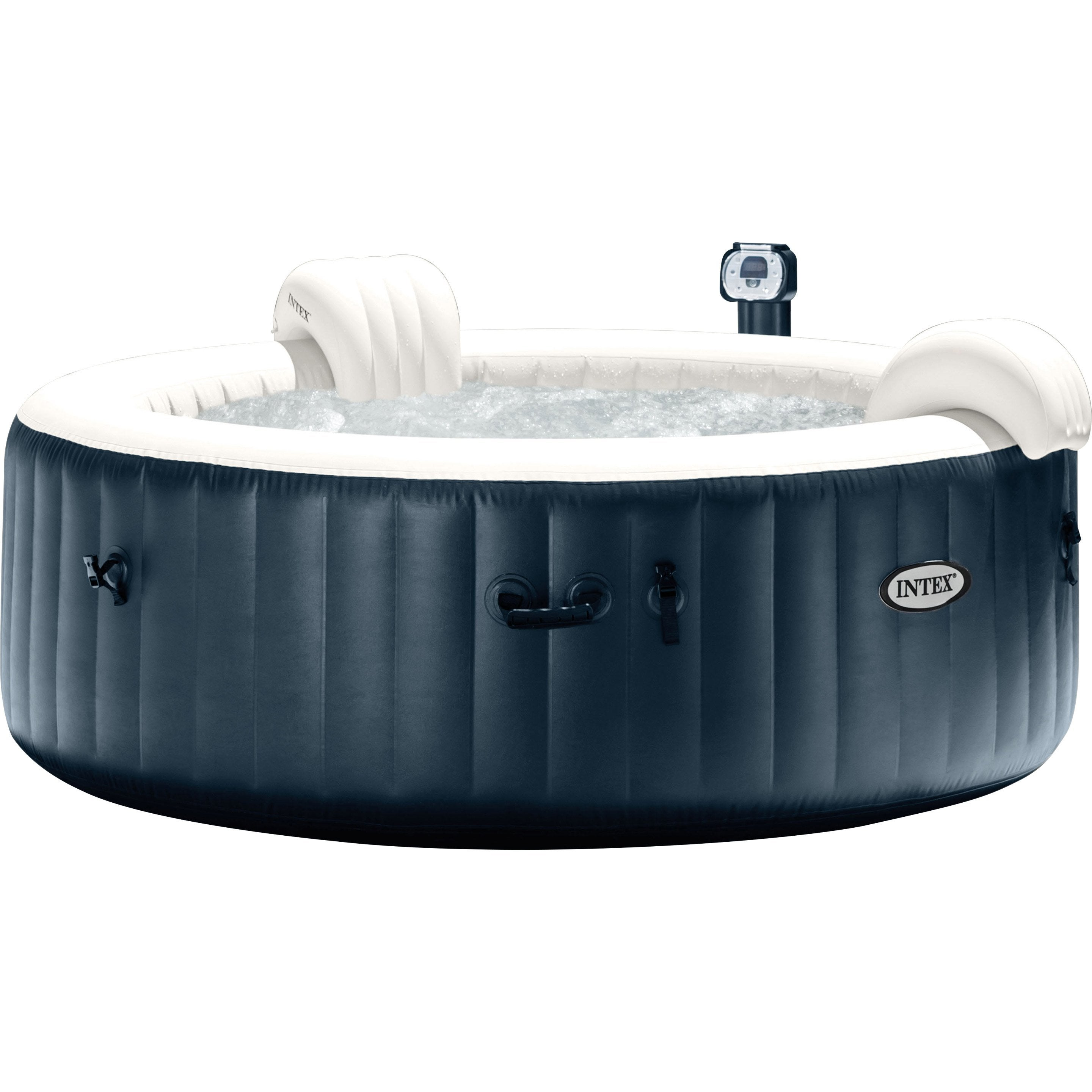 Installer Spa Gonflable Exterieur spa gonflable intex pure spa bulles led rond, 4 places assises