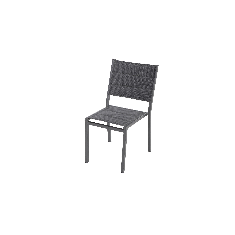 Quel Tissu Pour Chaise chaise de jardin en tissu lisboa gris