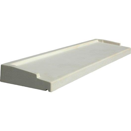 Appui de fen tre tradition h 5 x 34 x 130 cm blanc for Appui fenetre leroy merlin