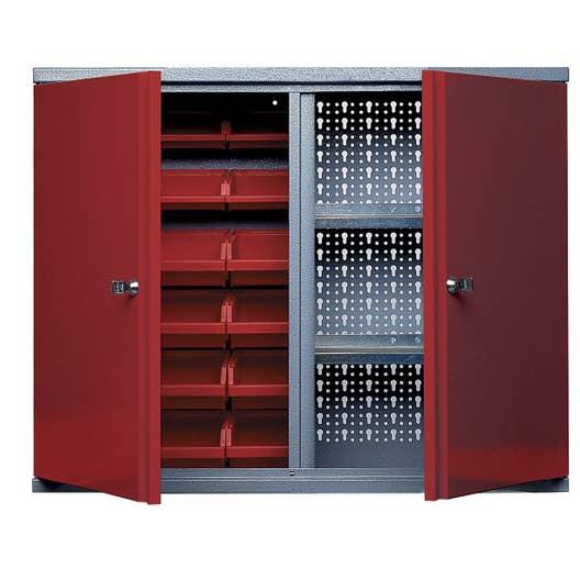 Armoire de rangement avec 18 boîtes à becs en métal rouge KUPPER 60 ...