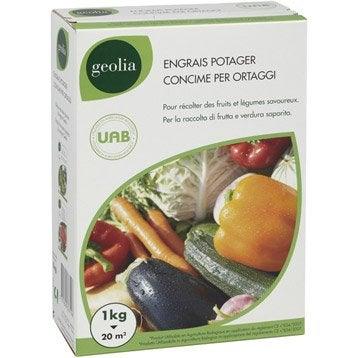 Engrais naturel potagers GEOLIA 1kg 17 m²