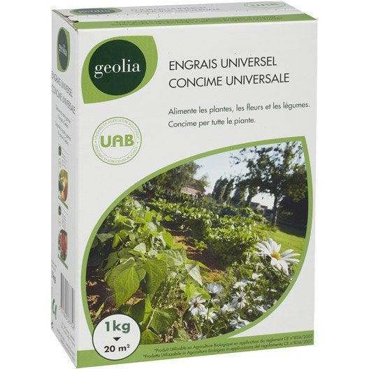 Engrais naturel universel GEOLIA 1kg 13 m²