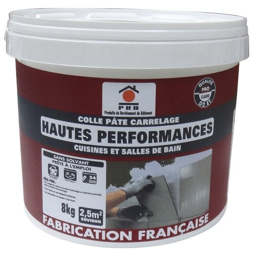 Colle en p te haute performance pour carrelage mur et sol 8 kg blanc lero - Colle bois leroy merlin ...
