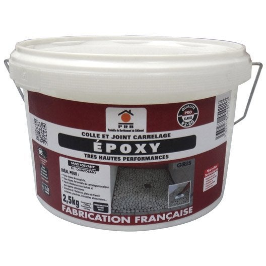 colle et joint poxy pour carrelage et mosa que mur et sol 2 5 kg gris leroy merlin. Black Bedroom Furniture Sets. Home Design Ideas