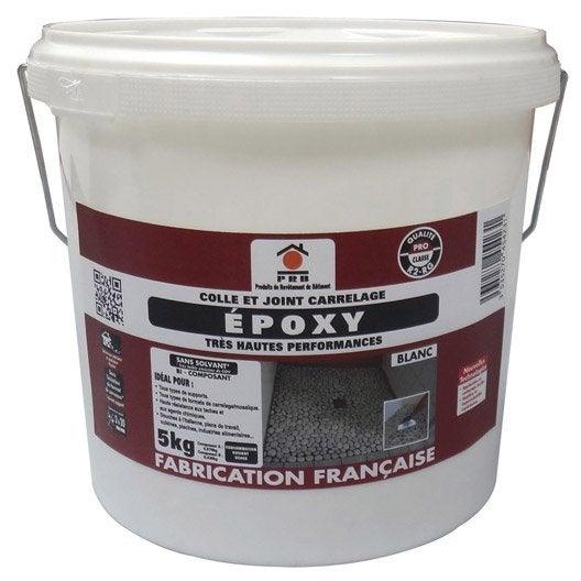 Colle et joint poxy pour carrelage et mosa que mur et sol 5 kg blanc leroy merlin - Enlever tache de colle sur carrelage ...