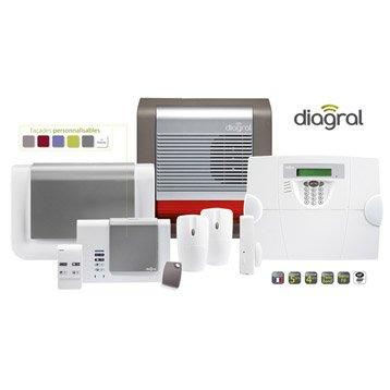 Alarme maison sans fil compatible animaux DIAGRAL Diag19asf