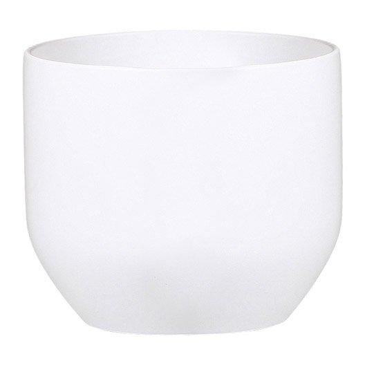 cache pot en terre cuite maill e scheurich diam 16 x haut 14 4 cm blanc. Black Bedroom Furniture Sets. Home Design Ideas