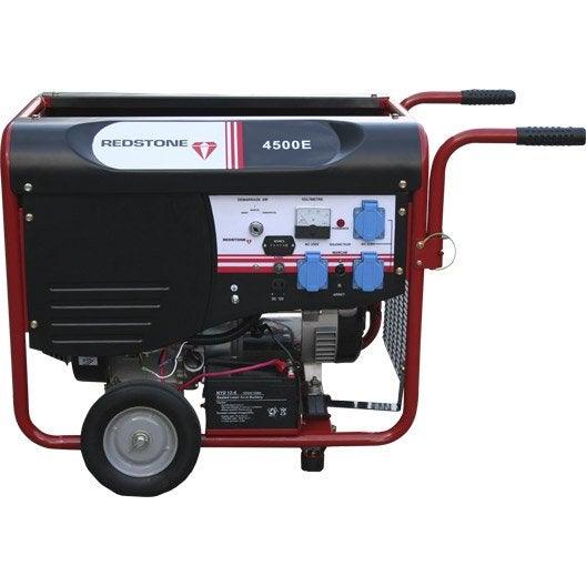 Groupe électrogène essence de chantier REDSTONE R4500, 4000 W