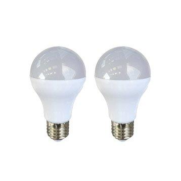 Lot de 2 ampoules standards LED 9W = 806Lm (équiv 60W) E27 4000K 150° LEXMAN