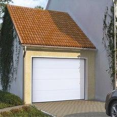 Porte de garage sectionnelle porte de garage motoris e leroy merlin - Porte de garage sectionnelle 200 300 ...