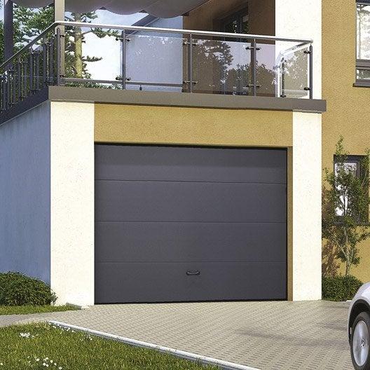 Porte de garage sectionnelle excellence x cm leroy merlin - Porte de garage sectionnelle 200 300 ...