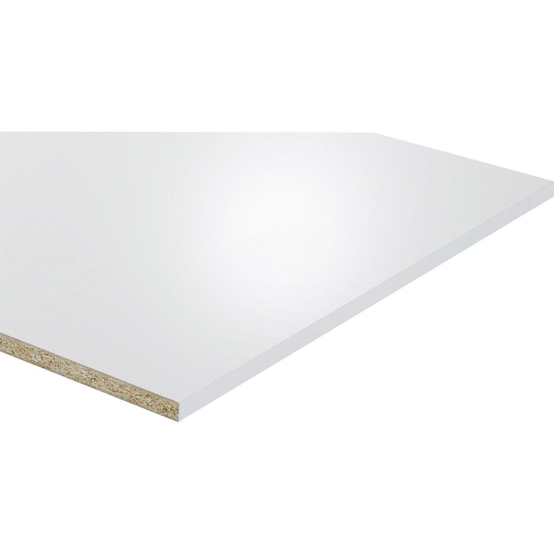Tablette Mélaminé Glossy Blanc L250 X L60 Cm X Ep18 Mm