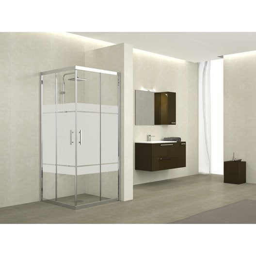 porte de douche coulissante angle carr x cm s rigraphi elyt leroy merlin. Black Bedroom Furniture Sets. Home Design Ideas