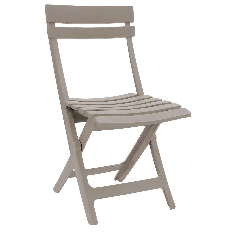 Chaise de jardin en r sine miami lin leroy merlin - Chaise pliante pas cher ikea ...