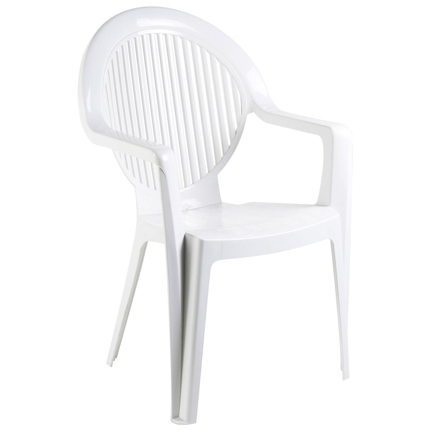 fauteuil de jardin en r sine fidji blanc leroy merlin. Black Bedroom Furniture Sets. Home Design Ideas