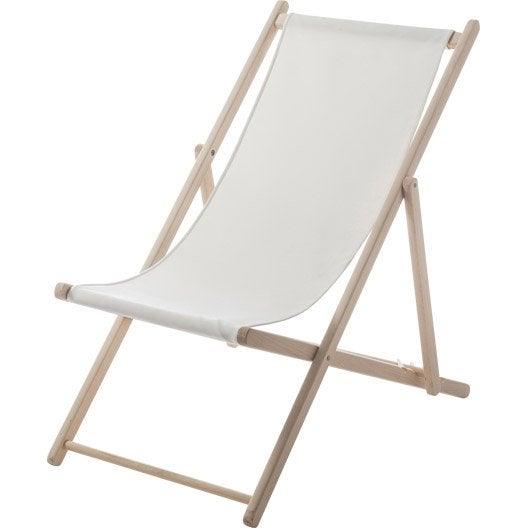 Chilienne de jardin en tissu lola blanc ivoire leroy merlin - Chaise blanc d ivoire ...