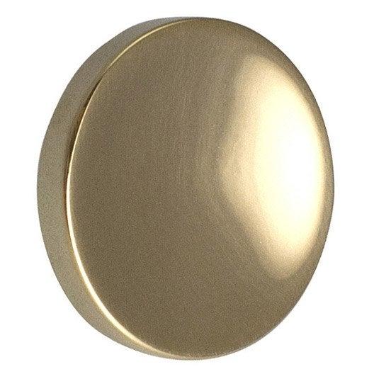 Bouton de meuble concave laiton brillant leroy merlin - Coin de meuble en laiton ...