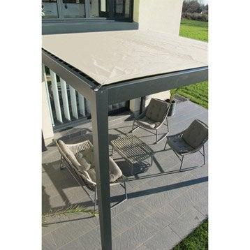 Pergola autoportante aluminium gris anthracite 12 m²
