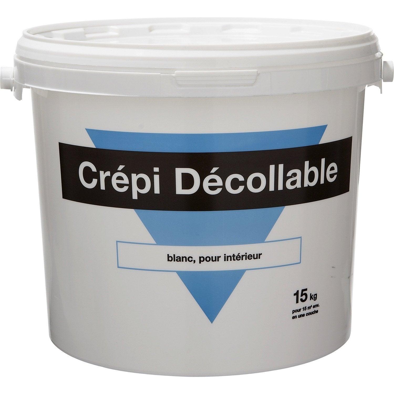 peinture à effet, crépi 1er prix, blanc, 15 kg | leroy merlin - Enduit Pour Crepi Interieur