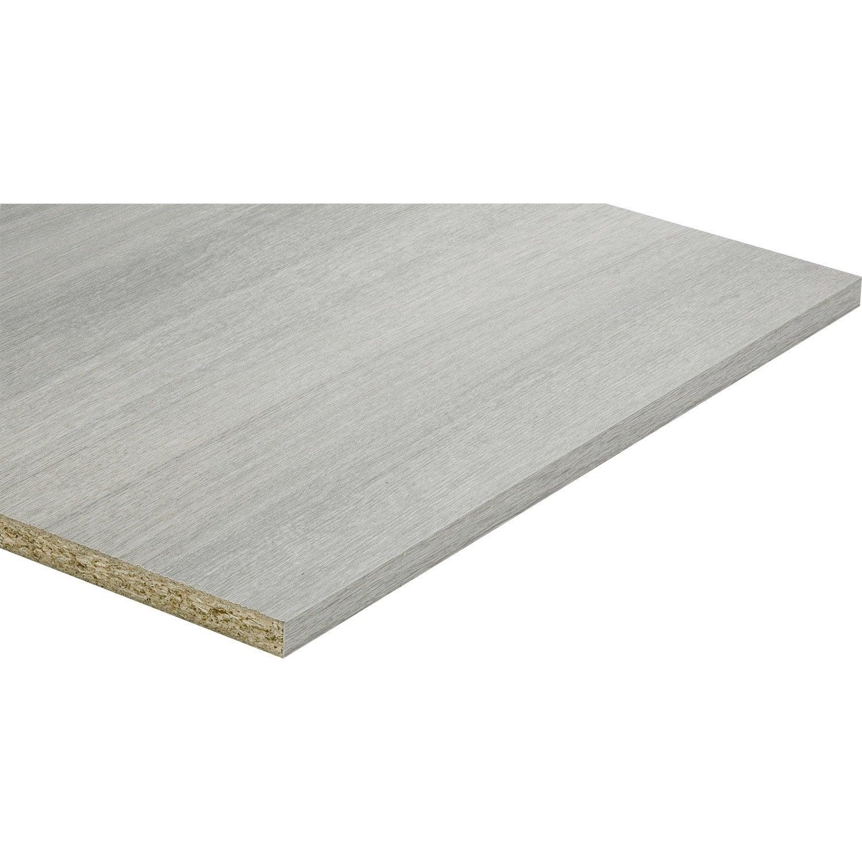 Planche Mélaminé Blanc Castorama tablette mdf mélaminé imitation chêne grisé, l.250 x l.50 cm x ep.18 mm
