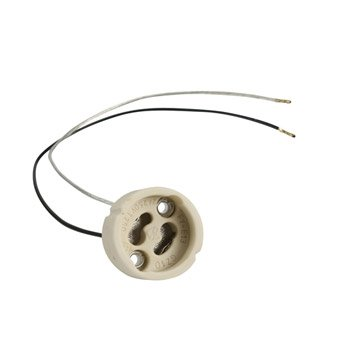 Douille électrique E14 abs, blanc ivoire