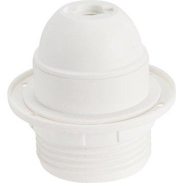 Douille électrique E27 polyester, blanc